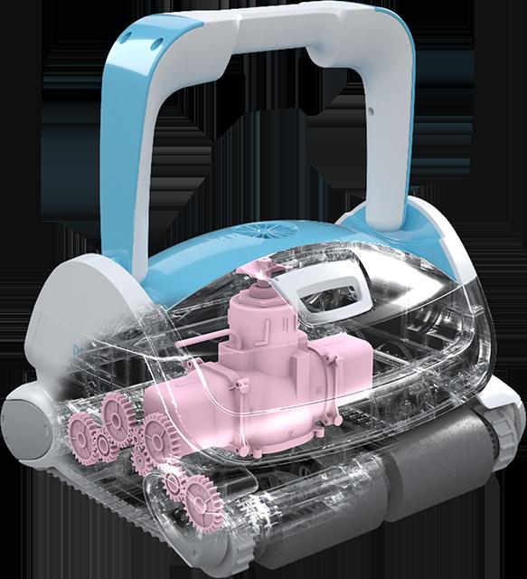 Robotický vysavač BWT P500_vnitřek